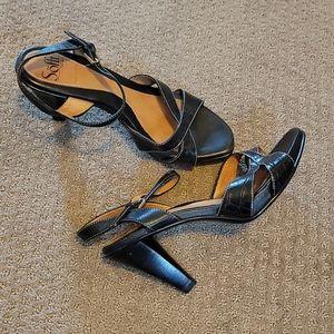 Sofft Black Heeled Sandals